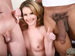 White married woman Tweety fucked by monster black cocks while her cuckold hubby watches